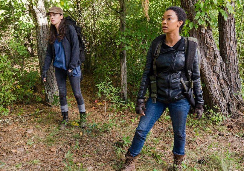 Rosita Espinosa (Christian Serratos) and Sasha Williams (Sonequa Martin-Green) in The Walking Dead season 7 episode 14 Photo by Gene Page/AMC