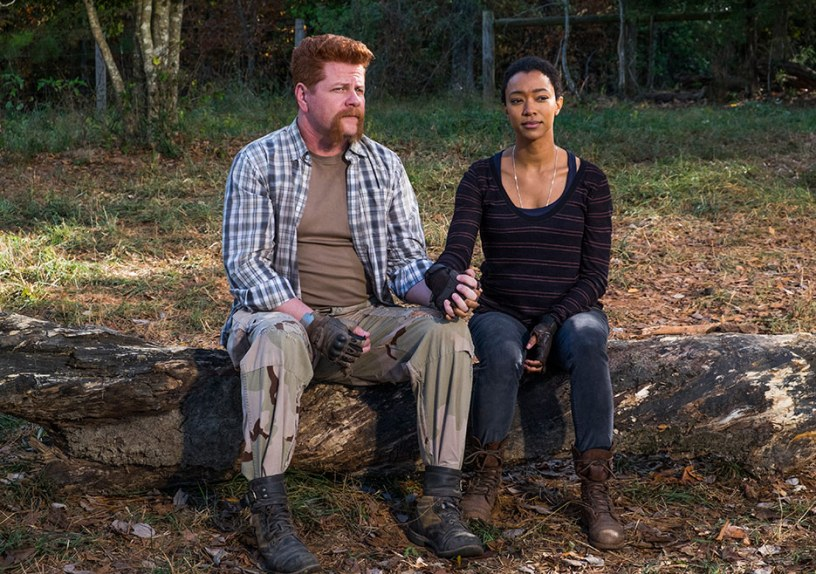 Abraham Ford (Michael Cudlitz) and Sasha (Sonequa Martin-Green) in Episode 16 Photo Credit: Gene Page/AMC, The Walking Dead