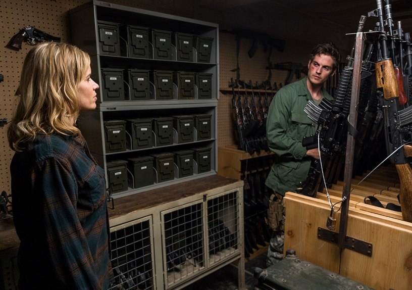 Madison Clark (Kim Dickens) and Troy Otto (Daniel Sharman) in S3E6 Photo credit: Richard Foreman Jr/AMC, Fear The Walking Dead