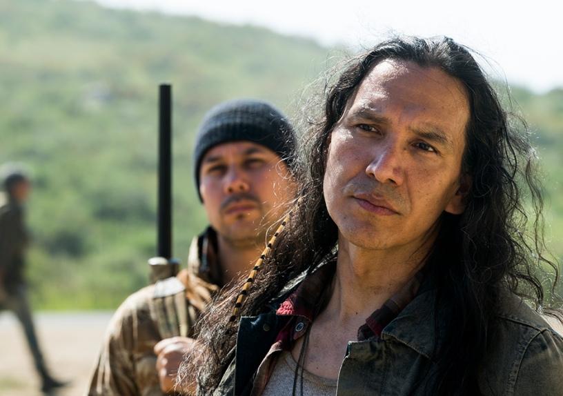 Qaletaqa Walker (Michael Greyeyes) in Episode 7 Fear The Walking Dead Season 3 Photo credit: Richard Foreman Jr./AMC