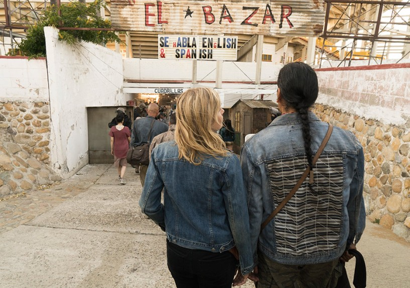 Madison Clark (Kim Dickens) and Qaletaqa Walker (Michael Greyeyes) in Episode 10 Fear The Walking Dead Photo credit: Richard Foreman Jr./AMC