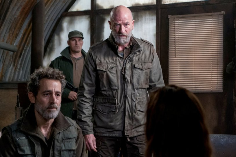 "COLONY -- ""End of the Road"" Episode 305 -- Pictured: (l-r) Waleed Zuaiter as Vincent, Graham McTavish as Andrew MacGregor -- (Photo by: Daniel Power/USA Network)"